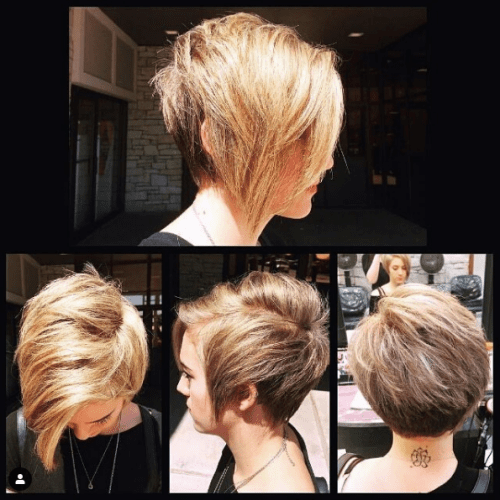 Cute Blonde Subtle Highlights on Outgrown Pixie Cut