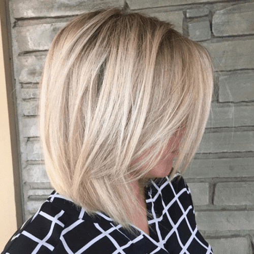 Light Brown Layered Hair with Blonde Highlights