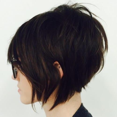 Stacked Short Layered Bob Hairstyles 63