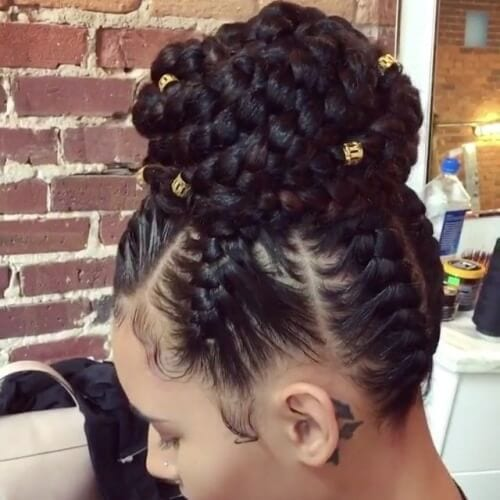 Protective Updo Styles
