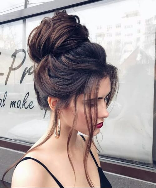 90s wedding bun long hairstyles