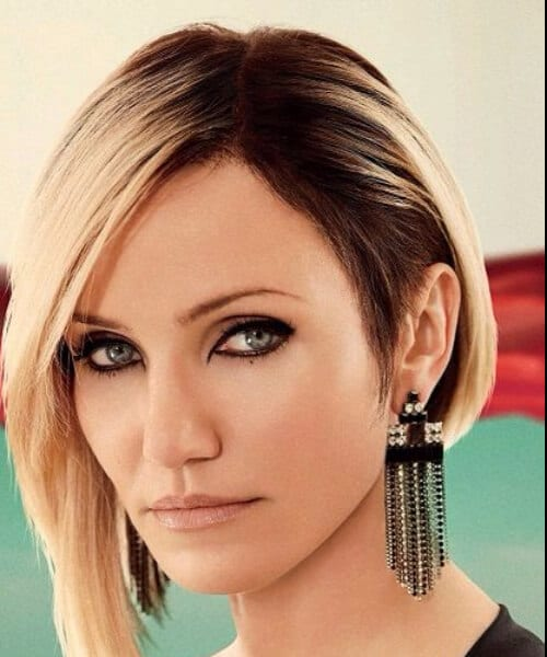 Cameron Diaz Amazing Assymetrical Bob short hairstyles