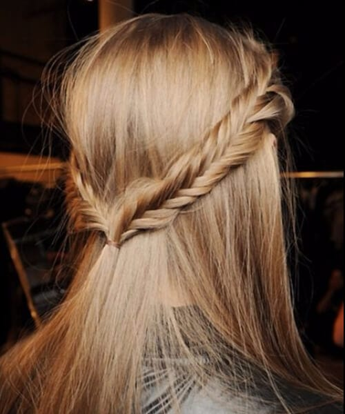 Fishtail double braids long hairstyles