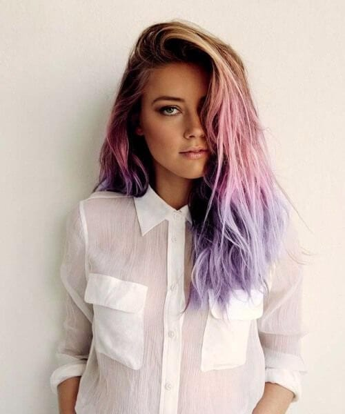 amber heard ombre hair