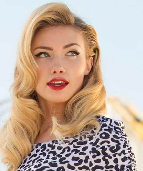 amber heard pin up hairstyles