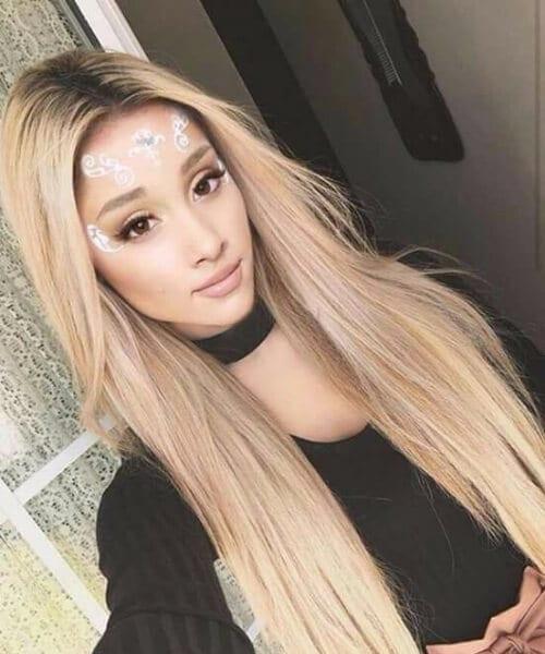 ariana grande blonde hair