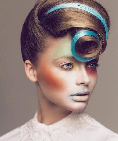 artistic dramatic pin up hairstyles
