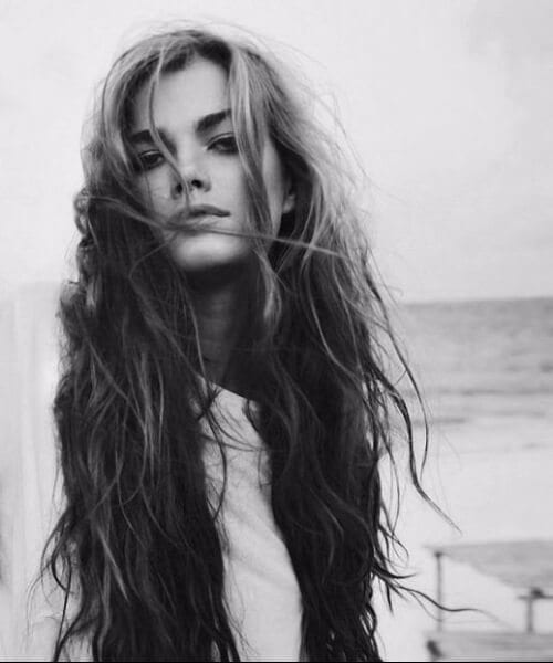 beach waves long hairstyles