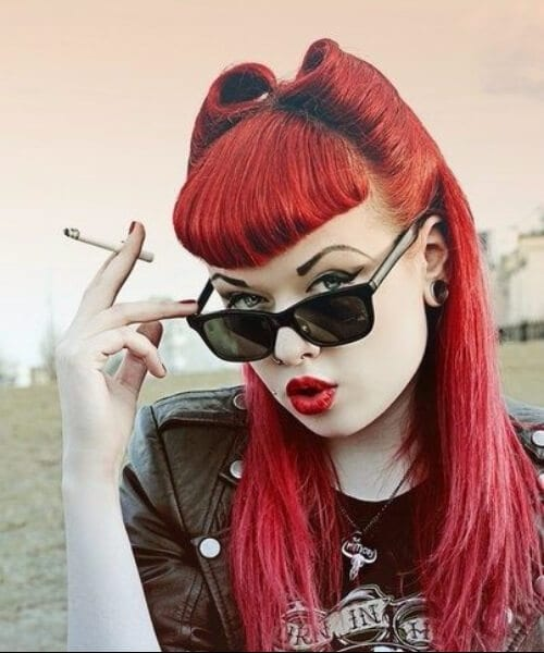 beautiful bangs pin up hairstyles