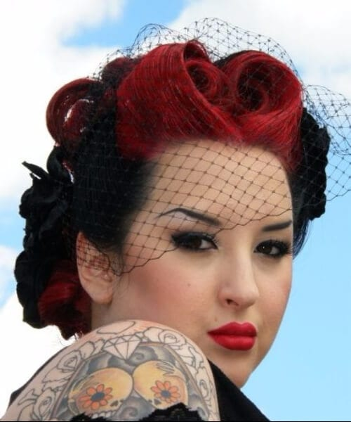 birdcage pin up hairstyles