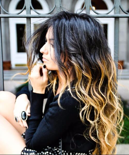 black to blonde ombre hair