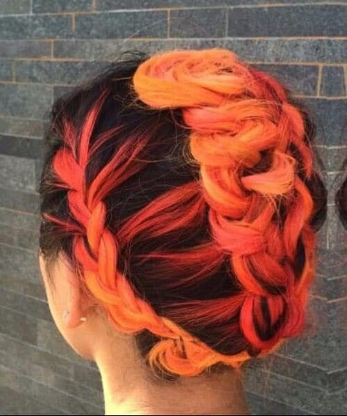 black to tequila sunrise ombre hair