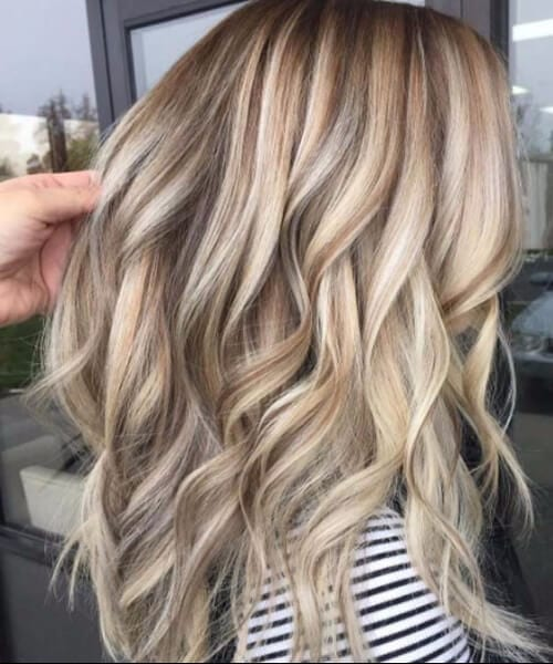 blonde hair balayage curls