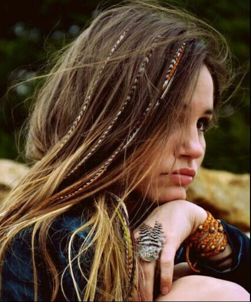 bohemian tresses long hairstyles
