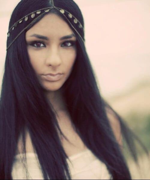 boho gipsy style long hairstyles