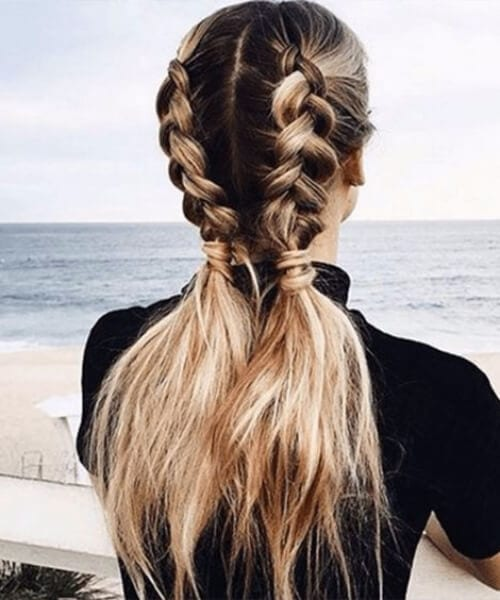 braided pigtails long hairstyles
