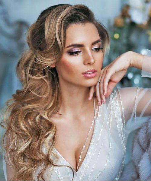 bride to be long hairstyles