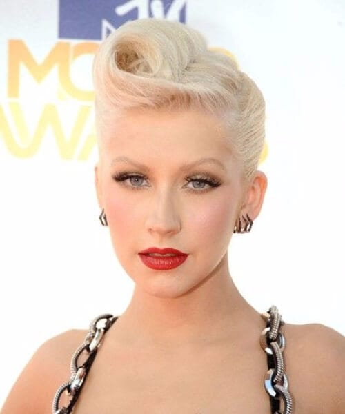 christina aguilera pin up hairstyles