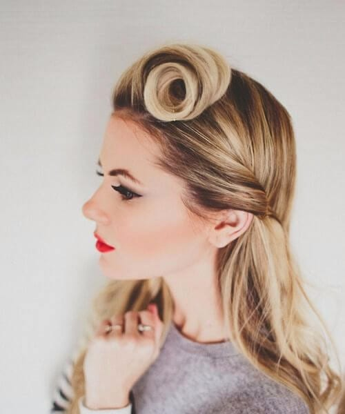 classy pin up hairstyles