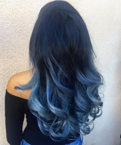 electric indigo ombre hair