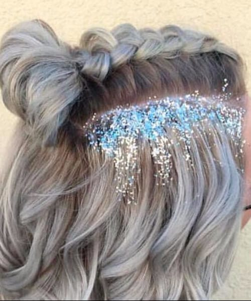 glitter prom short hairstyles
