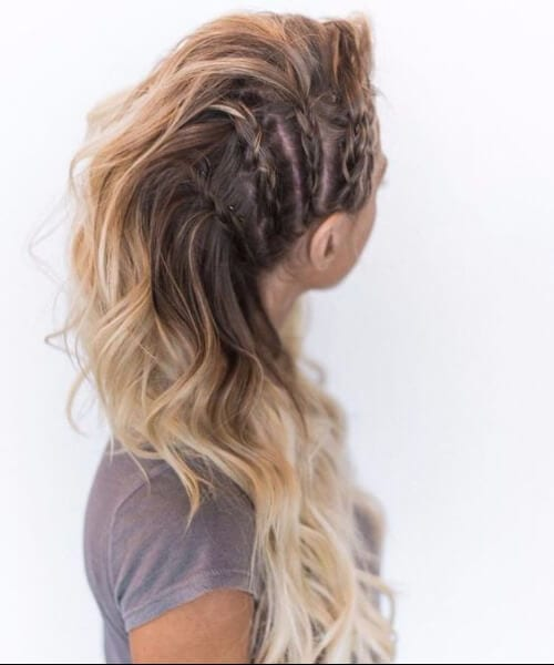 half braided long hairstyles