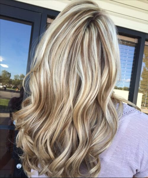 ice blonde and chocolate brown lowlight blonde hair