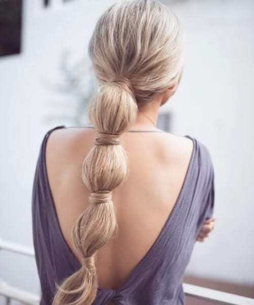jumbo bubble braid long hairstyles
