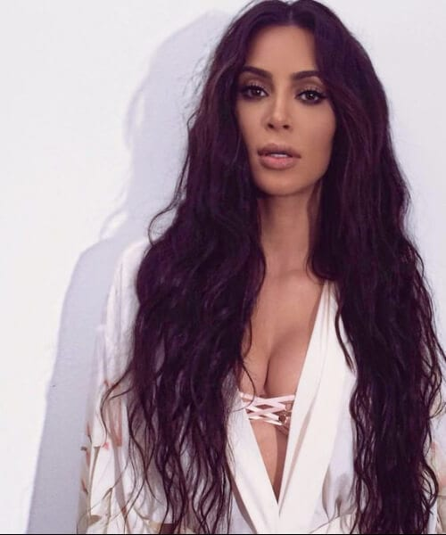 kim k extra long hairstyles