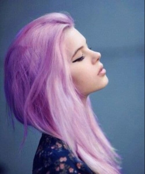 lilac to white ombre hair