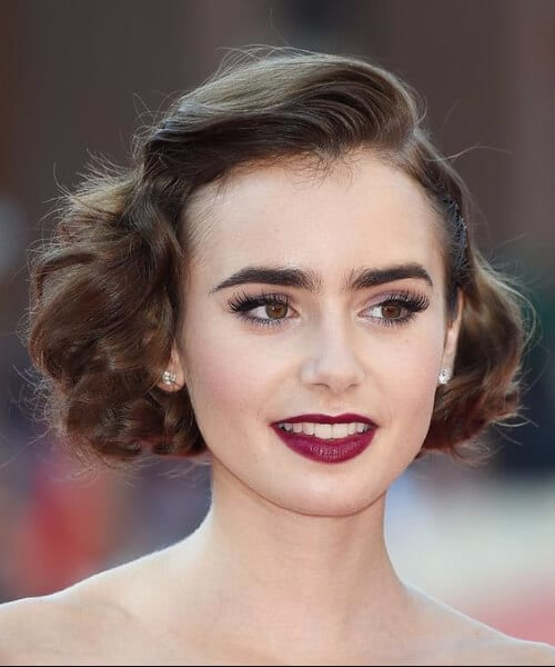 lilly collins short hairstyles