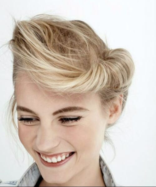 messy modern pin up hairstyles