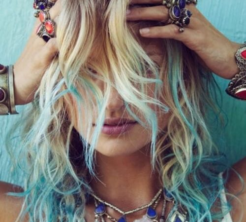 moroccan Blues and Greens ombre hair