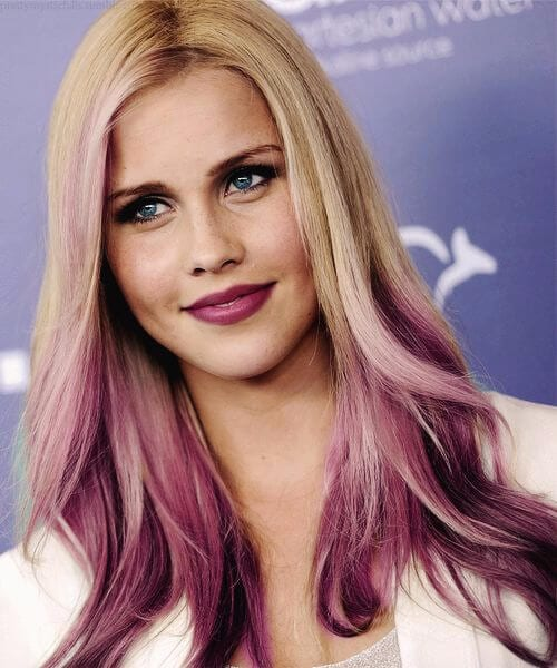 ombre berry on blonde hair