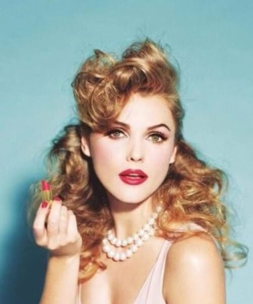pin up hairstyles long hair