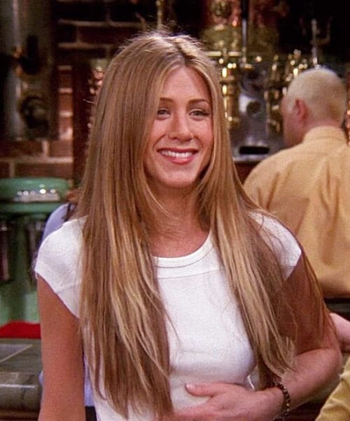 rachel throwback long hairstyles