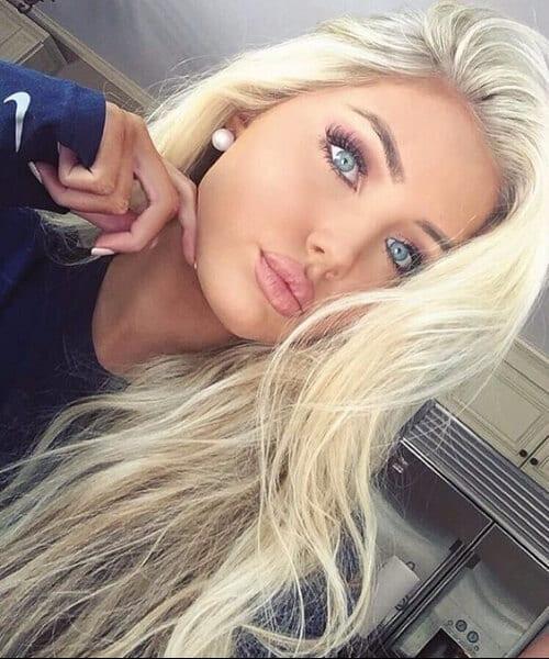 russian bleach blonde hair