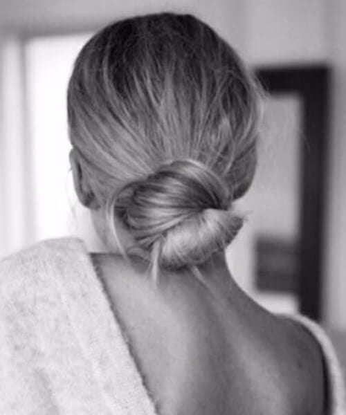 simple low bun perfection long hairstyles