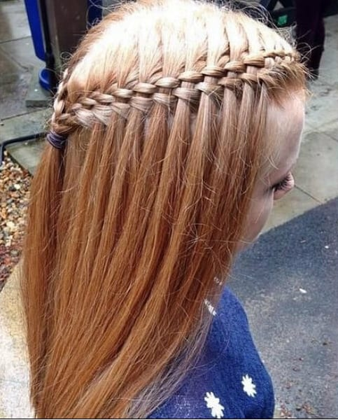 Five Strands Waterfall little girl hairstyles