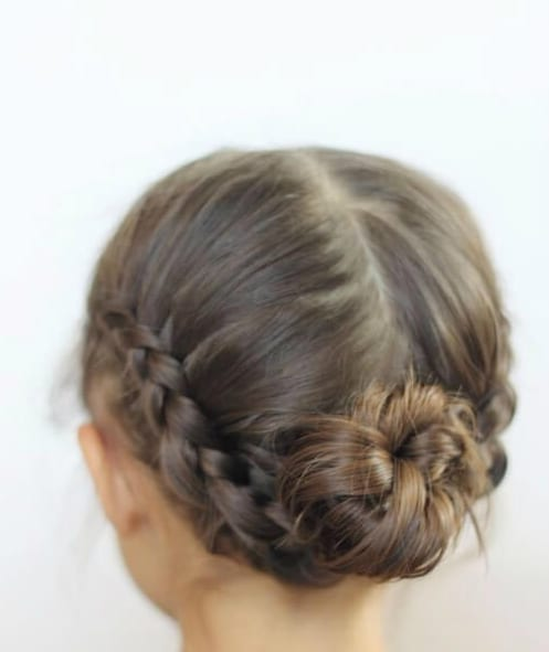 low chignons braids little girl hairstyles