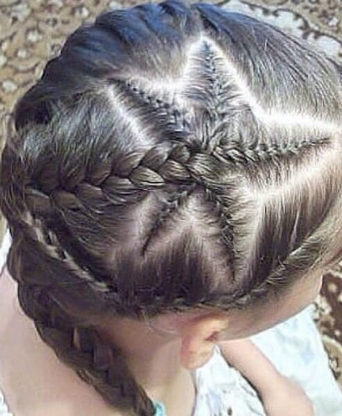 starfish braids little girl hairstyles
