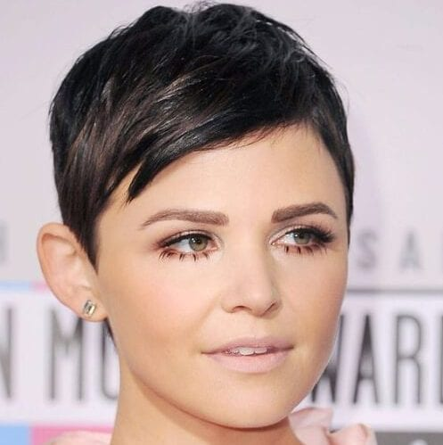 Ginnifer Goodwin long pixie cut