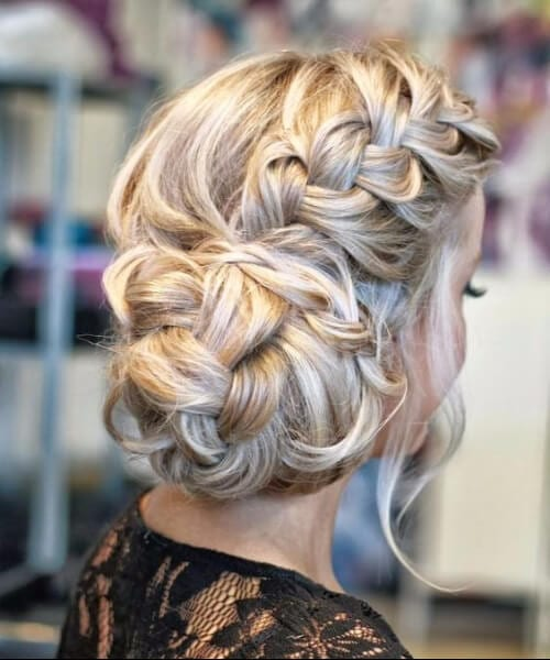 Glamorous Wedding french braid hairtsyles