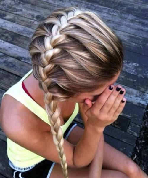 Horizontal french braid hairstyles