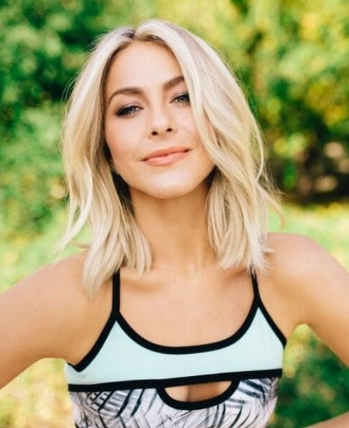 Julianne Hough shoulder length bob