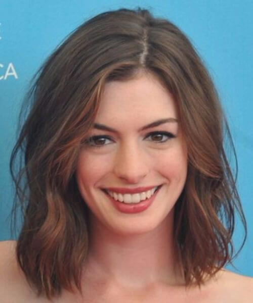 anne hathaway shoulder length bob
