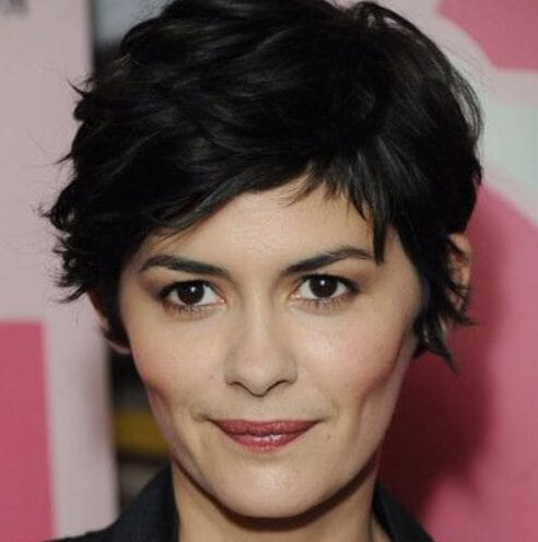 audrey tatou long pixie cut
