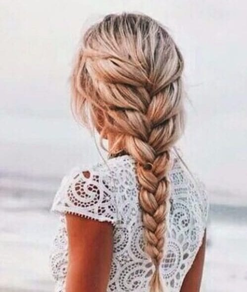 beach plait french braid hairstyles