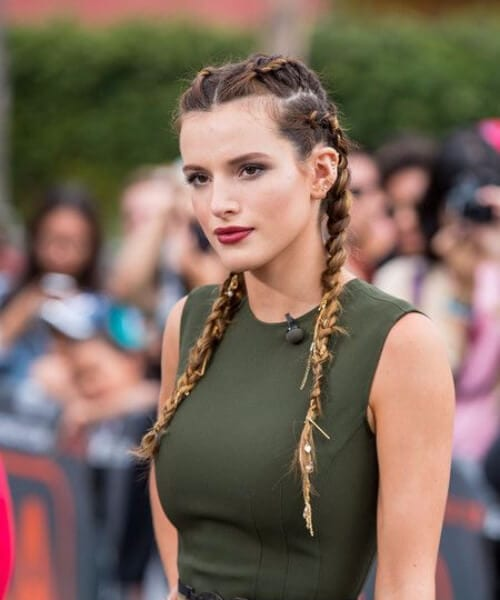 bella thorne multiple french braid hairstyles