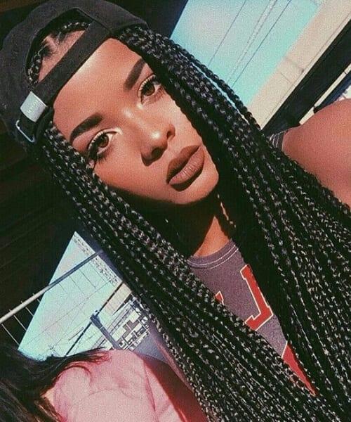 box braids black girl hairstyles